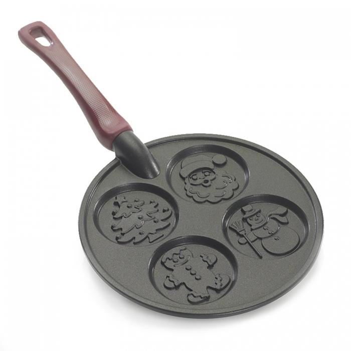 Appareil à Crêpe - Poêle à pancakes mini crêpe de noel Nordic Ware