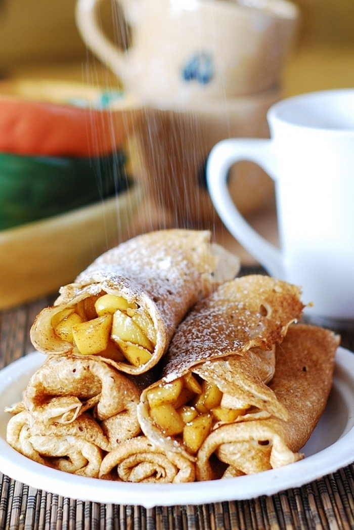 crêpe sucré - Recette Crêpe Tarte aux Pommes Canelle