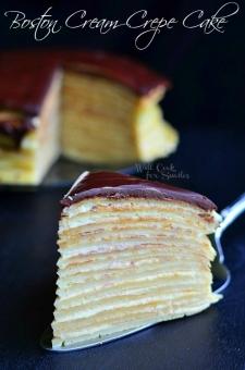 crêpe sucré - Recette Gateau Crêpe nappage Chocolat
