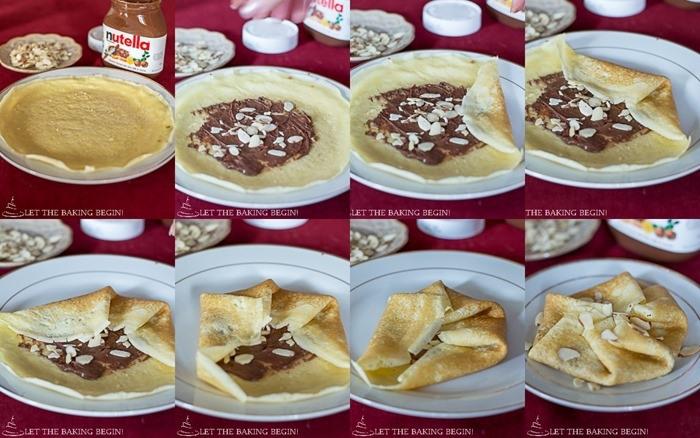 crêpe sucré - Recette Crêpe au Nutella 3 pliages