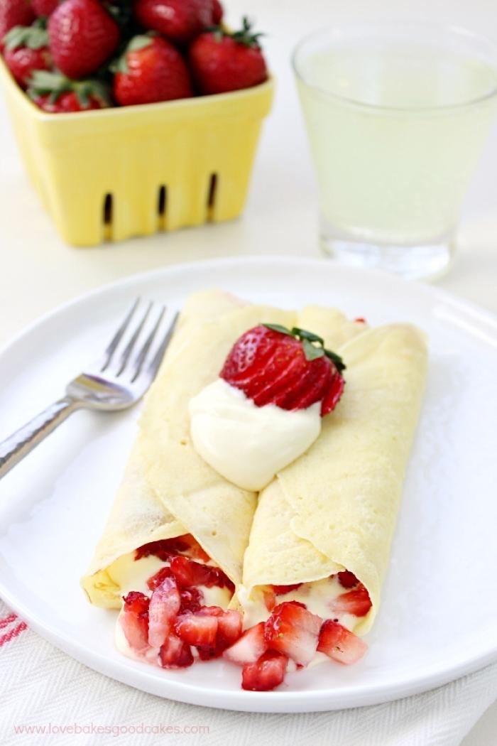 crêpe sucré - Recette Crêpe Fraise et Crème Citron