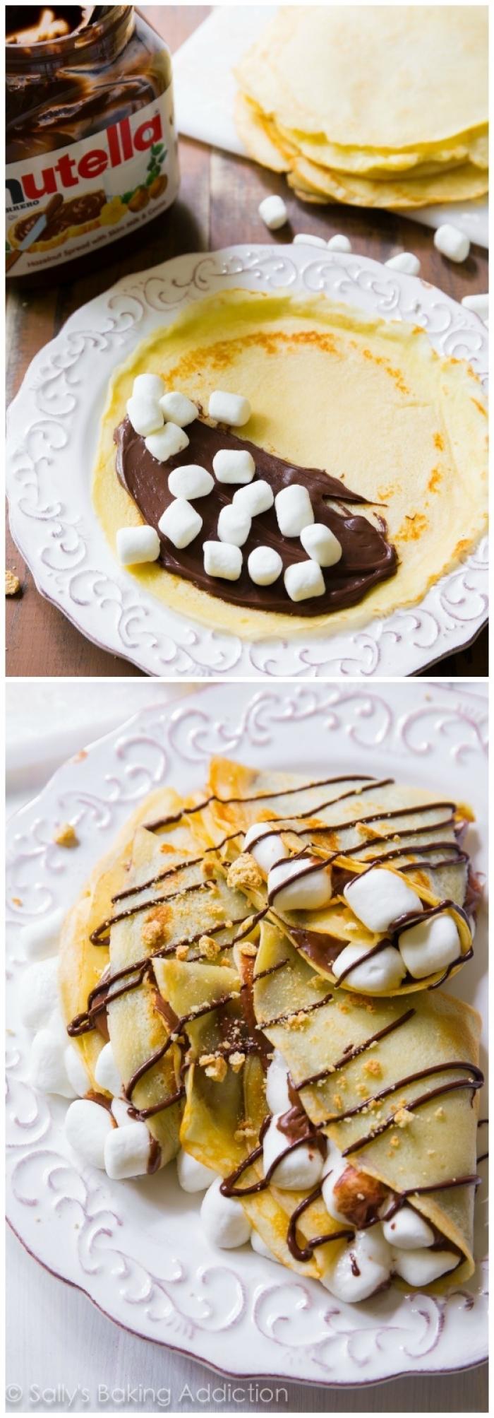 crêpe sucré - Recette Crêpe Nutella Guimauve Biscuits