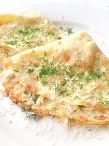 crêpe salé - Recette Crêpe au poulet et fromage