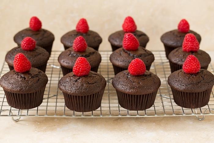 cupcake - Recette Cupcake Chocolat Glaçage Framboise