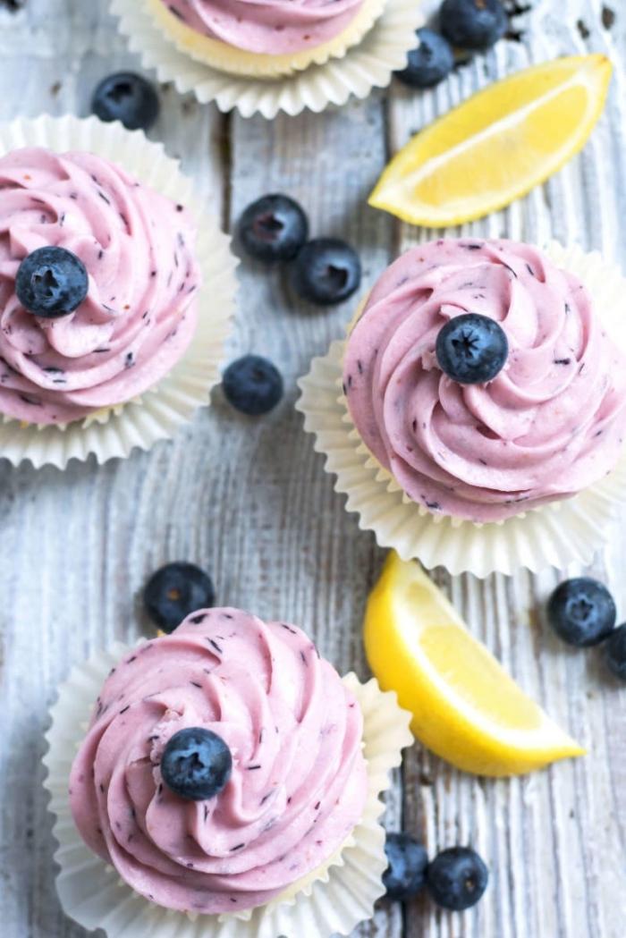 cupcake - Recette Cupcake Citron Glaçage Bleuet