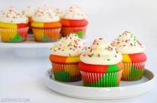 cupcake - Recette Cupcake Arc en Ciel