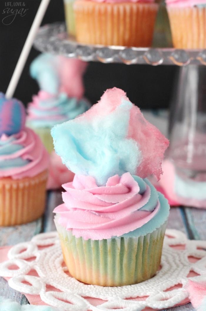 cupcake - Recette Cupcake Barbe à Papa