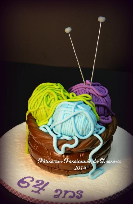 gateau danniversaire gteau en forme de pelotes de laine pour l anniversaire de votre mamie - Anniversaire Mamie