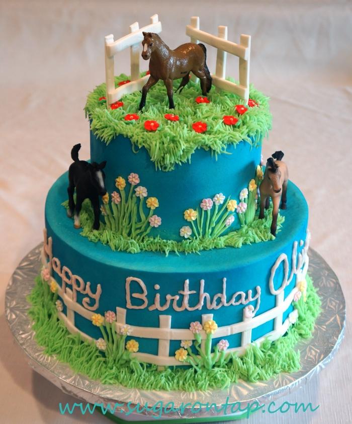 anniversaire chevaux gateau