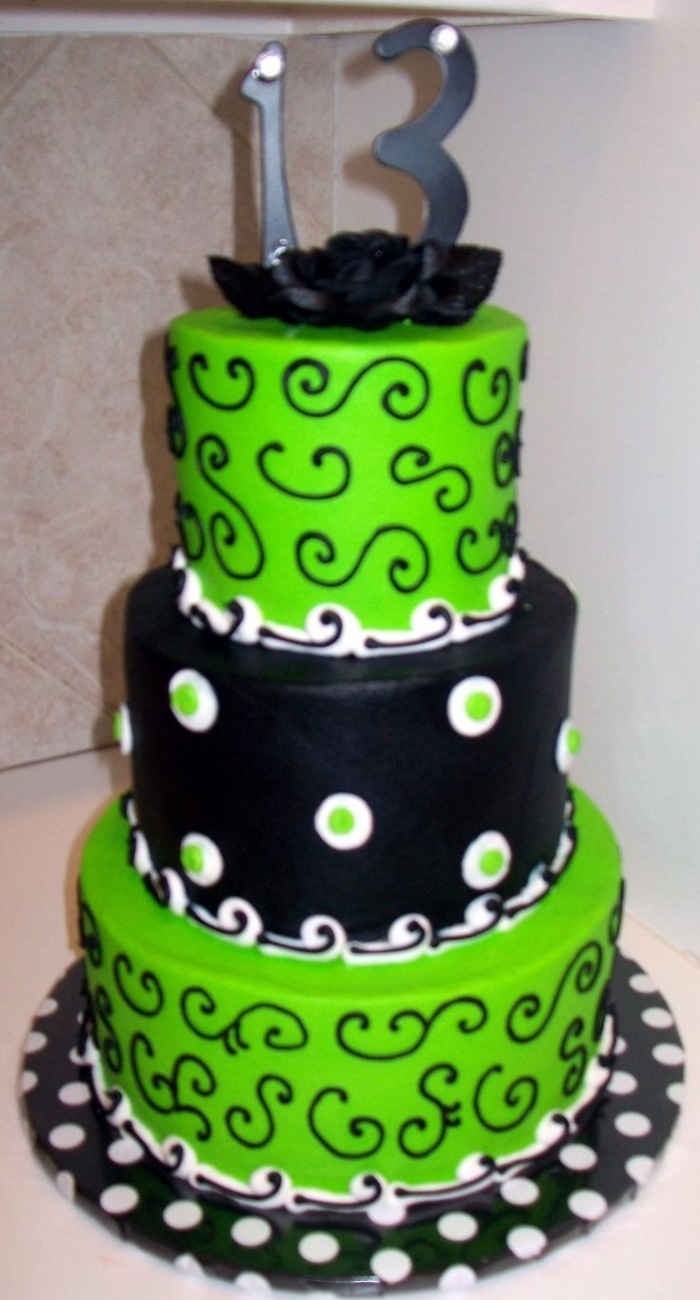 Lime Green Cake Decorations