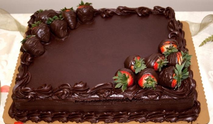 Cake Design Au Chocolat Avec Des Fraises 19 03 2019