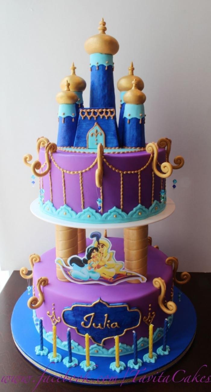 Gateau anniversaire palais ch teau aladdin 21 07 2018 - Gateau anniversaire disney ...
