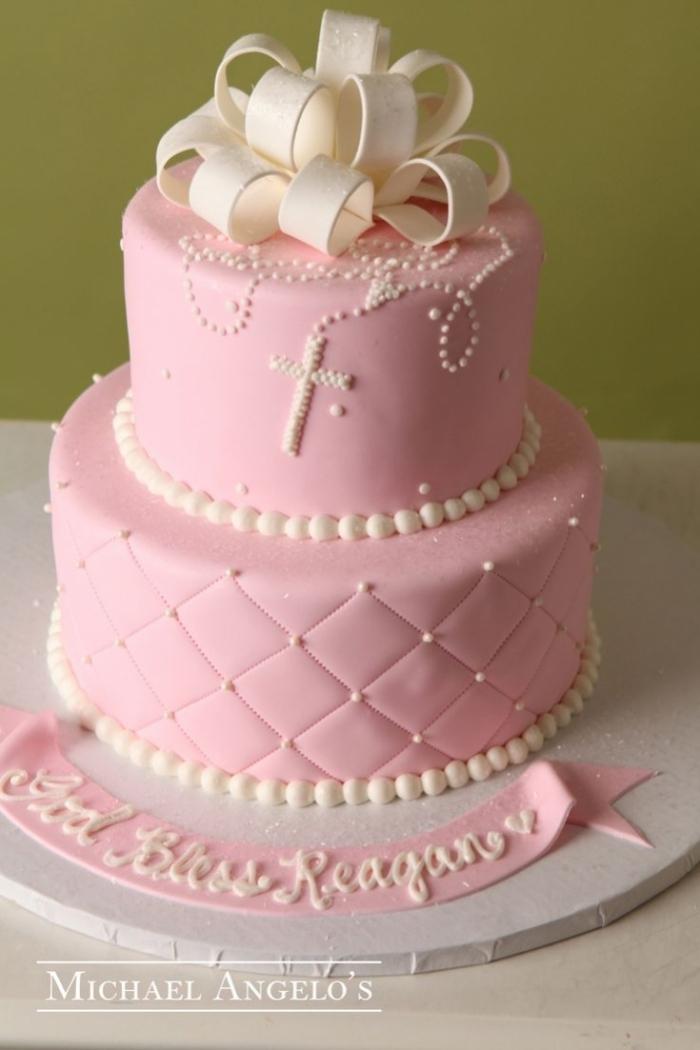 Cake Design  Etages Pour Bapteme