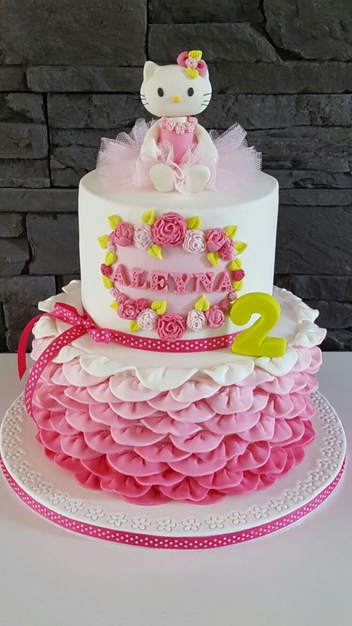 Cake Design Hello Kitty Tutu Degrade De Roses 16 03 2019