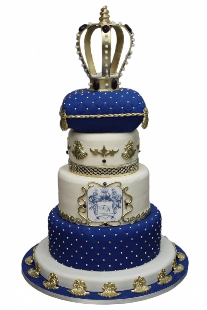 Royal Cake Design Bleu Pour Un Petit Roi 19 03 2019