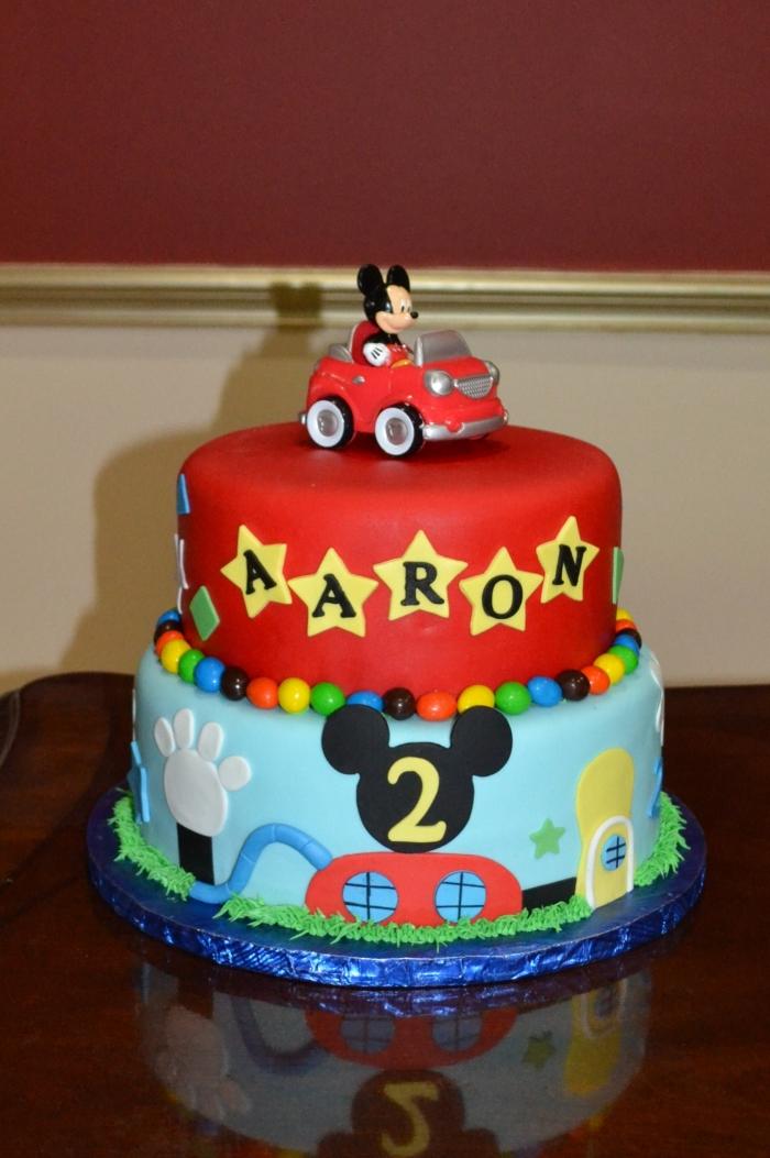 Super gâteau d'anniversaire Mickey pour les deux ans de votre fils - 23  BN74