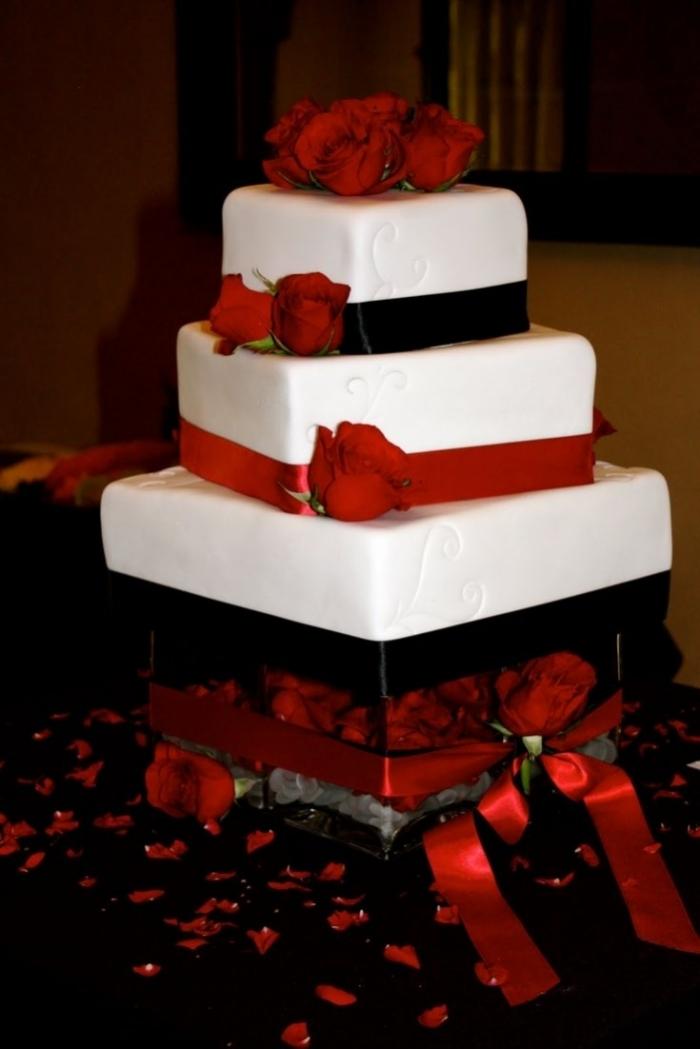 Assez Gateaux de mariage rouge et blanc – Votre heureux blog photo de  CH89