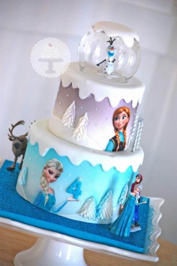Cake Reine Des Neiges : Un elegant gateau de la reine des neiges avec olaf pour un ...