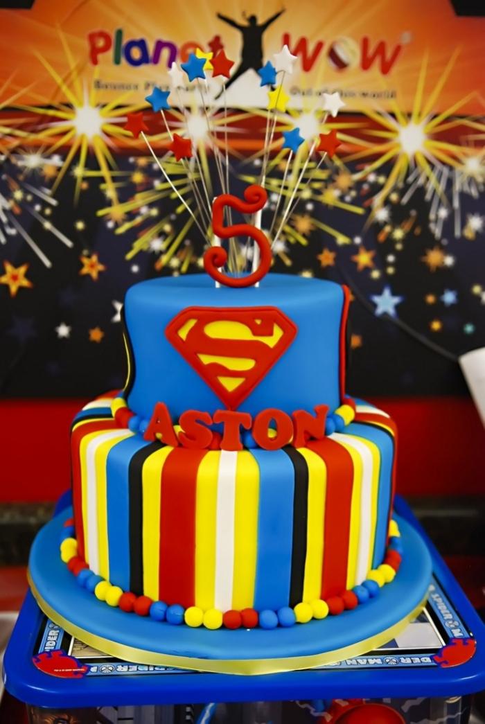 gateau de super hros gateau danniversaire superman - Gateau Anniversaire Super Heros