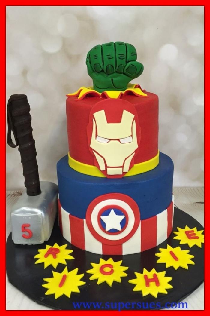 gateau de super hros ide gateau de super heros marvel - Gateau Super Heros