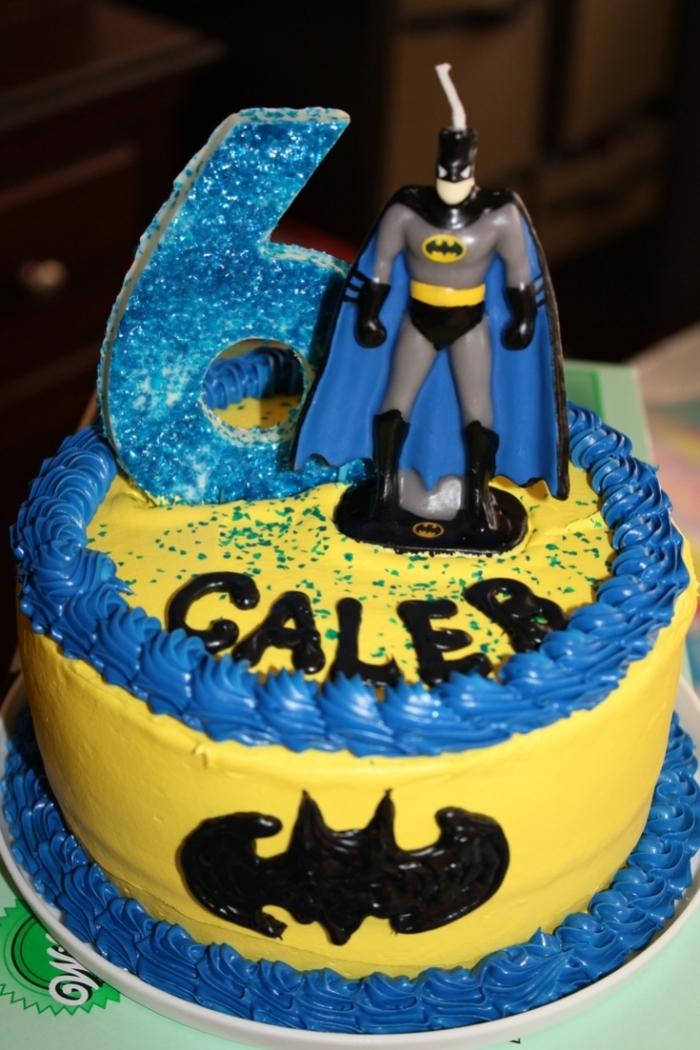 Gateau de Super Héros , Gateau d\u0027anniversaire Batman 6ans
