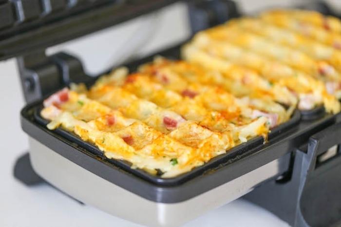 gaufre salé - Recette Gaufre Jambon fromage Pomme de terre