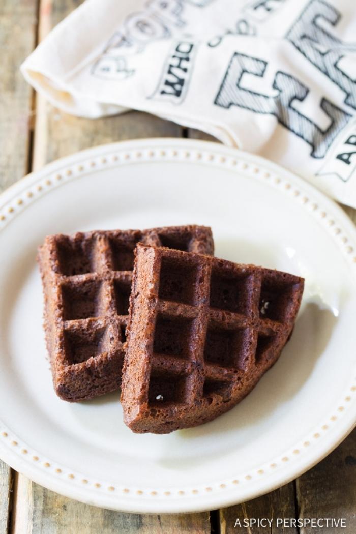 gaufre sucré - Recette Gaufre Brownie à la mode belge