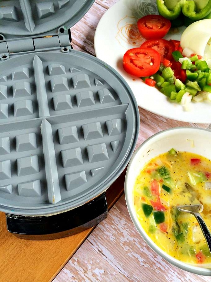gaufre salé - Recette gaufre Omelette