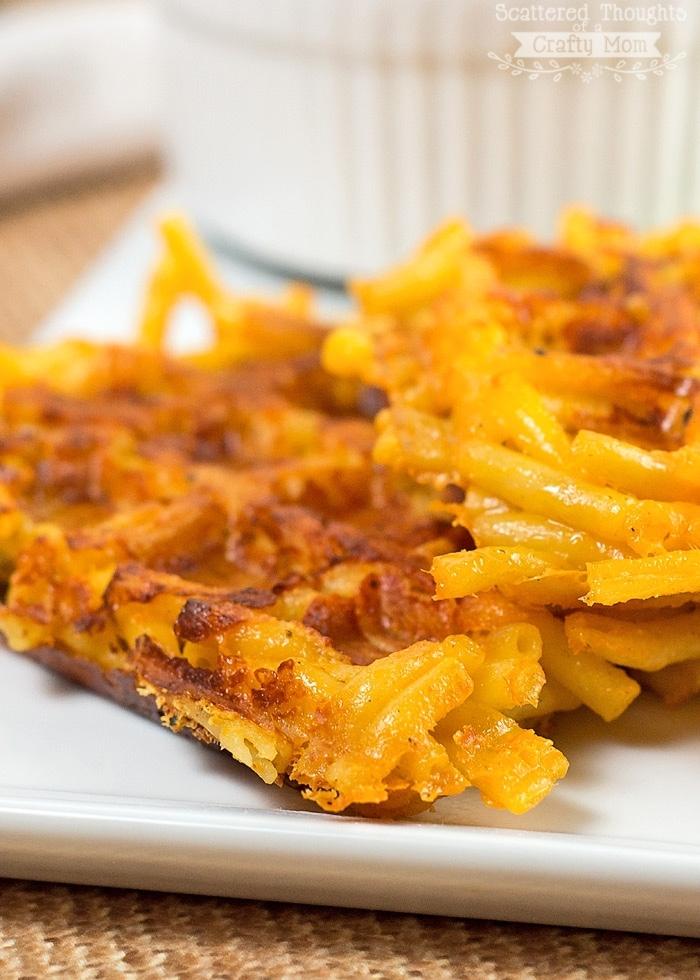 gaufre salé - Recette Gaufre au Pâtes au Fromage