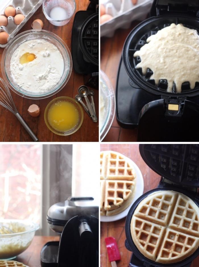 gaufre sucré - Recette Gaufre au petit lait