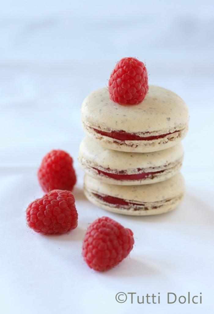 macaron - Recette Macaron Vanille Confiture de Framboise
