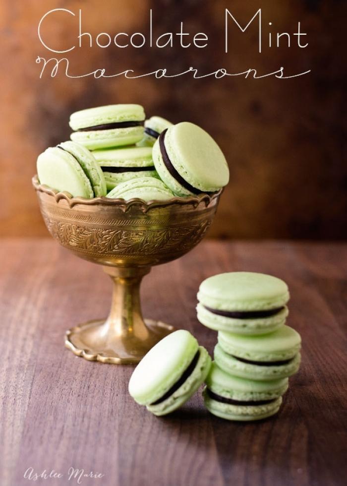 macaron - Recette Macaron Chocolate Mint