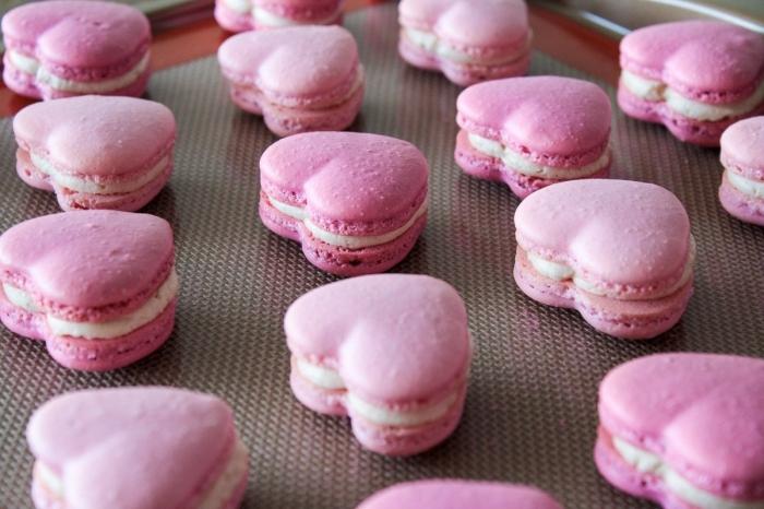 macaron - Recette Macaron Coeur Saint-Valentin