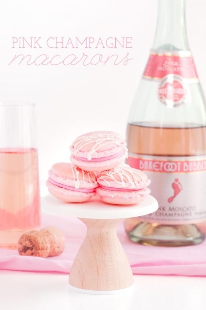 macaron - Recette Macaron Rose Champagne