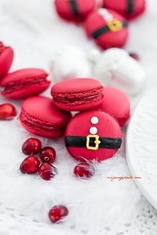 macaron - Recette Macaron Canneberges pour Noël