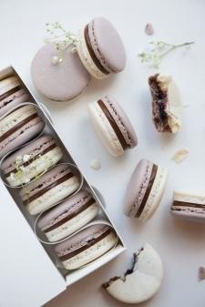 macaron - Recette Macaron Thé noir Cassis